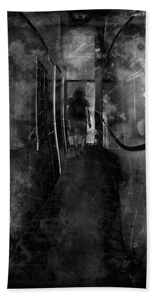 Alone Bath Sheet featuring the photograph Alone by Rudy Umans