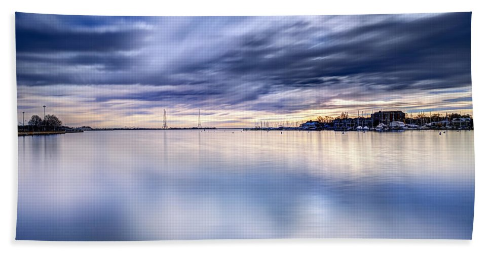 Annapolis Hand Towel featuring the photograph Alone With My Camera by Edward Kreis