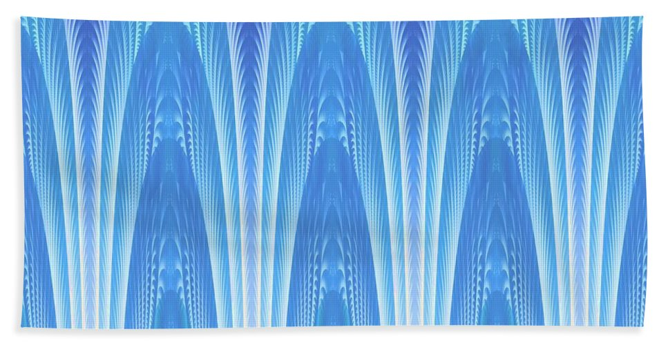 Fractal Bath Sheet featuring the digital art Along The Blue Nile by Lyle Hatch