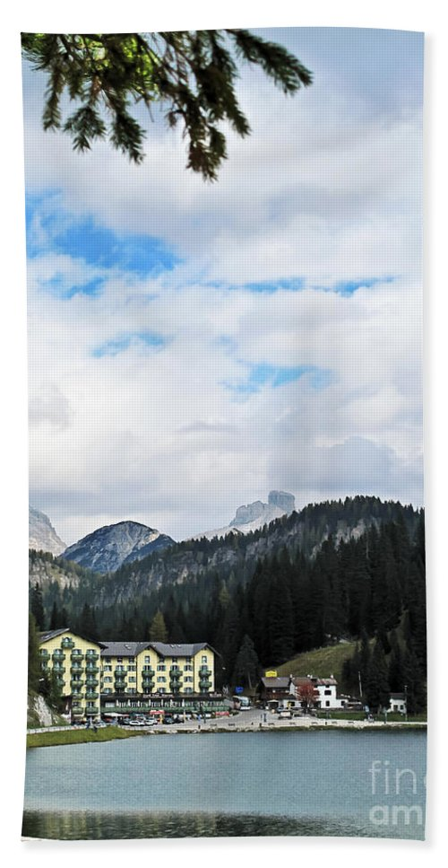Travel Hand Towel featuring the photograph Alpine Lake by Elvis Vaughn
