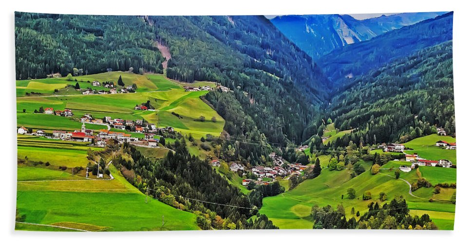 Travel Hand Towel featuring the photograph Alpine Meadow by Elvis Vaughn