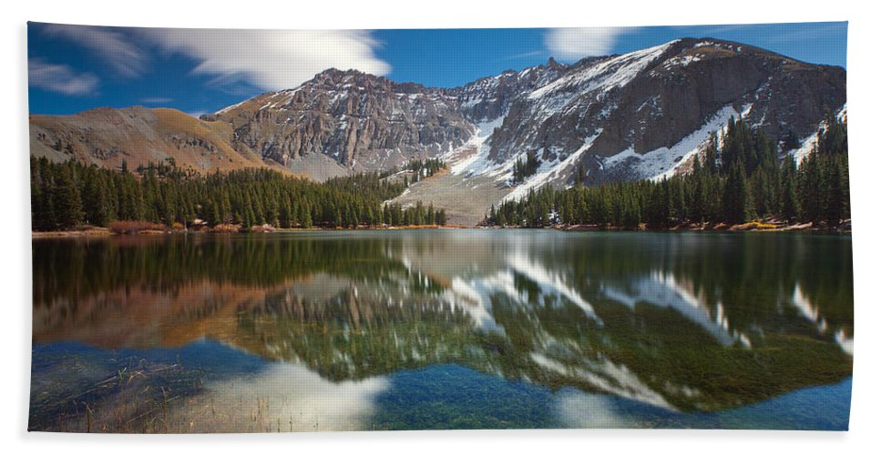Lake Bath Sheet featuring the photograph Alta Lakes by Darren White