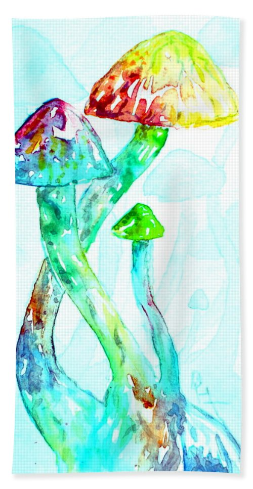 Altered Visions Hand Towel featuring the painting Altered Visions I by Beverley Harper Tinsley