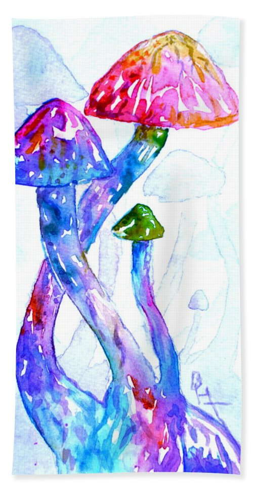 Altered Visions Hand Towel featuring the painting Altered Visions II by Beverley Harper Tinsley