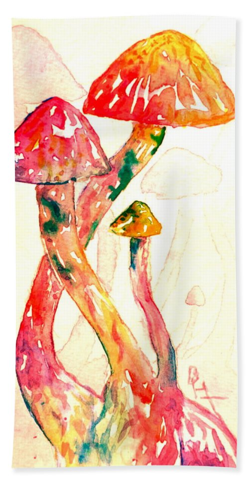 Ltered Visions Hand Towel featuring the painting Altered Visions IIi by Beverley Harper Tinsley