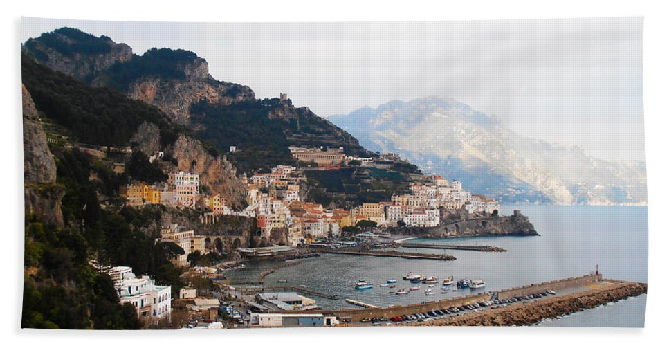 Amalfi Italy Hand Towel featuring the photograph Amalfi Italy by Bill Cannon