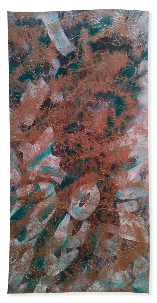 Abstract Hand Towel featuring the painting Amaze by Earnestine Clay
