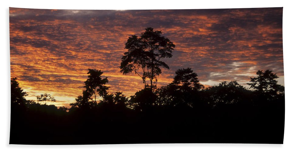 Sunset Hand Towel featuring the photograph Amazon Sunset by James Brunker