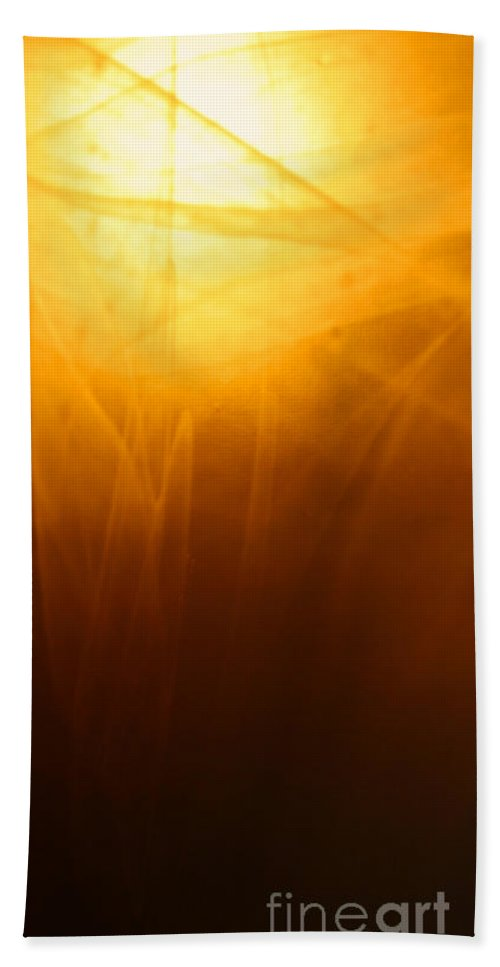 Abstract Hand Towel featuring the photograph Amber Shades by Susan Herber