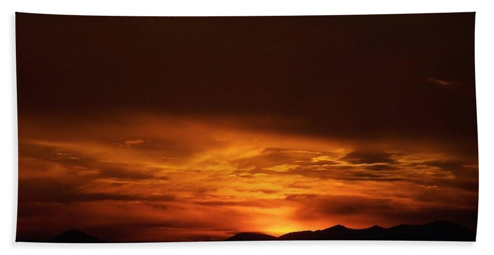 Amber Hand Towel featuring the photograph Amber Sky by Jennifer Allen