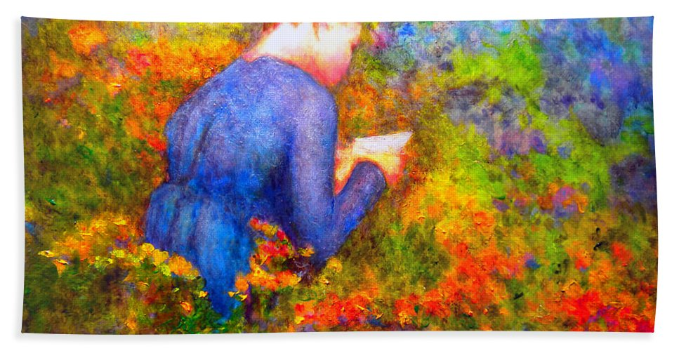 Impressionism Hand Towel featuring the painting Ambrosia's Love Letter by Michael Durst