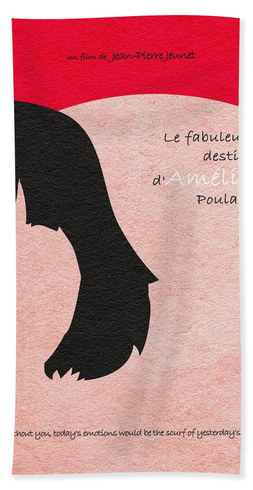 Amelie Hand Towel featuring the painting Amelie by Inspirowl Design