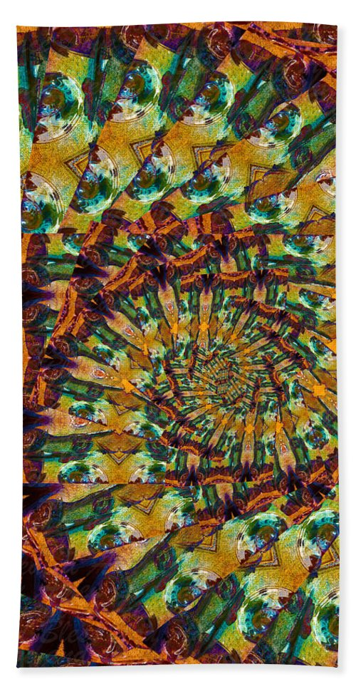 Words Hand Towel featuring the photograph Amen Spiral by Deprise Brescia