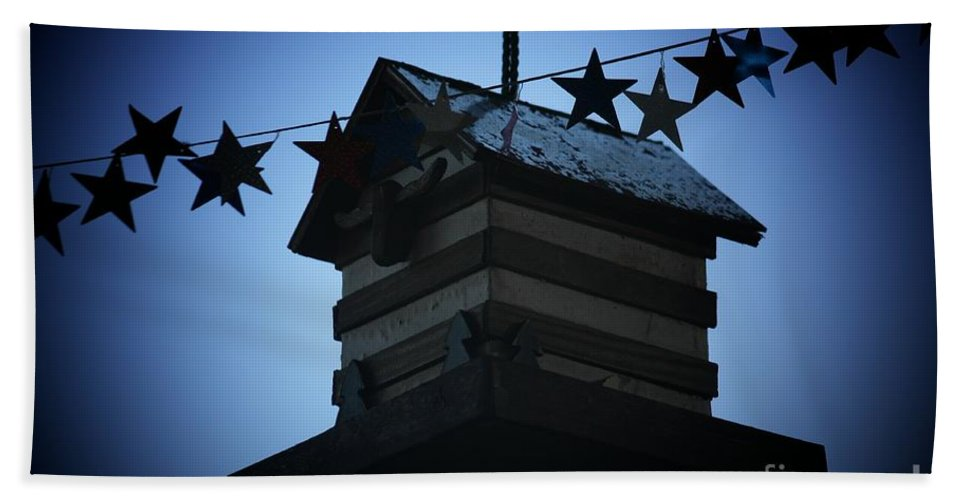 Stars And Stripes Hand Towel featuring the photograph American Bird House by Brandi Maher