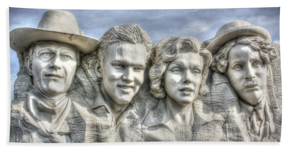 Outdoors Hand Towel featuring the digital art American Cinema Icons - America's Sweethearts by Dan Stone