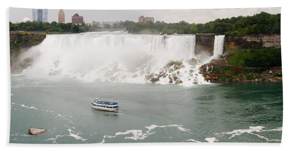 3scape Bath Sheet featuring the photograph American Falls by Adam Romanowicz