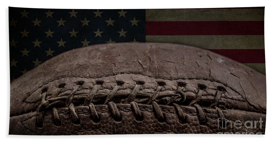 Football Bath Towel featuring the photograph American Football by Edward Fielding