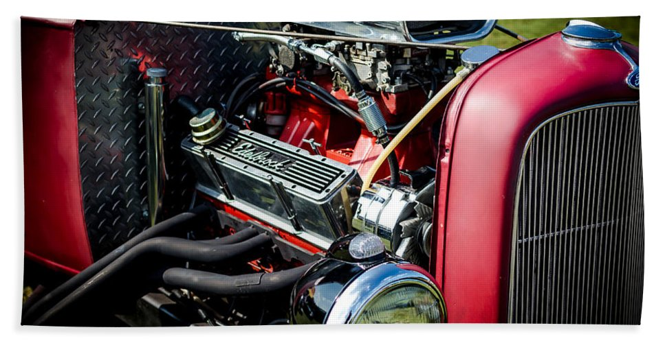 American Hotrod Bath Sheet featuring the photograph American Hotrod by David Morefield