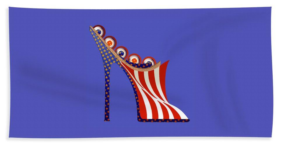 Shoes Bath Sheet featuring the painting American Mule by Deborah Runham