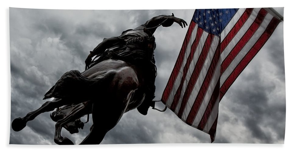 American Flag Hand Towel featuring the photograph American Spirit by Belinda Greb