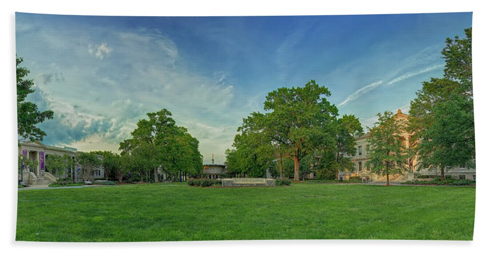 American Hand Towel featuring the photograph American University Quad by Metro DC Photography