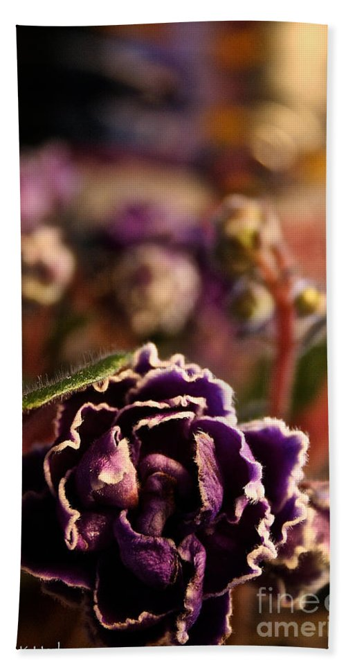 Flower Hand Towel featuring the photograph Amethyst Opening by Susan Herber