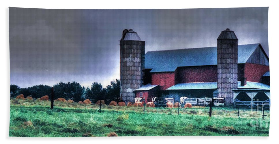Amish Bath Sheet featuring the photograph Amish Farming 2 by Tommy Anderson