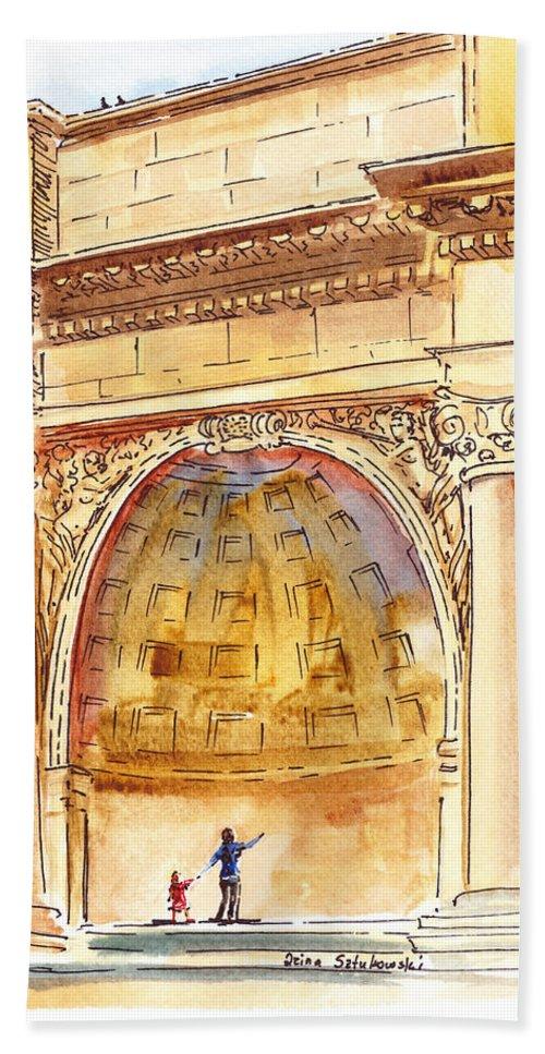 San Francisco Bath Sheet featuring the painting Amphitheater In Golden Gate Park San Francisco by Irina Sztukowski