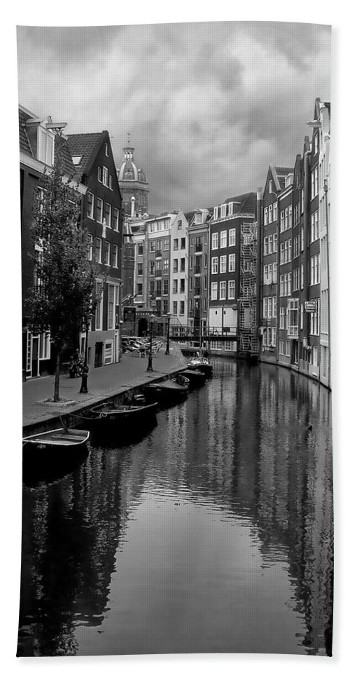 Amsterdam Hand Towel featuring the photograph Amsterdam Canal by Heather Applegate