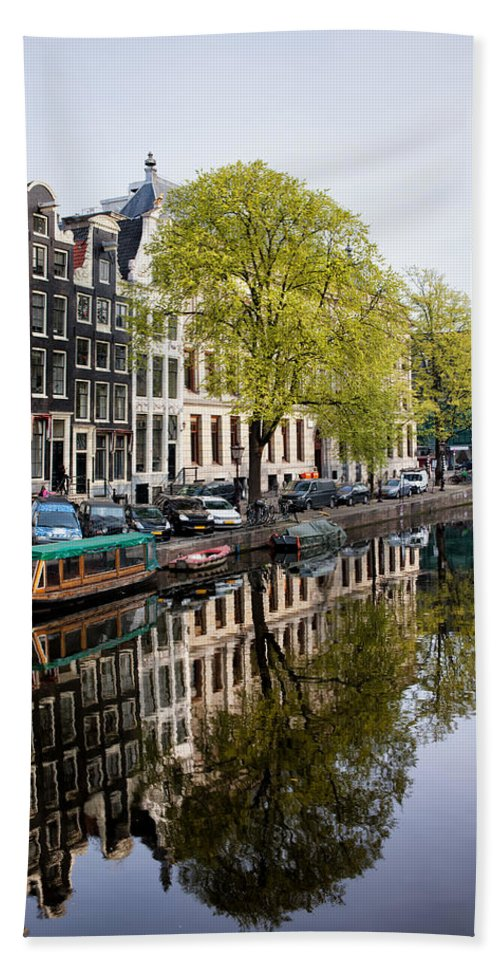 Amsterdam Hand Towel featuring the photograph Amsterdam Canal In Spring by Artur Bogacki
