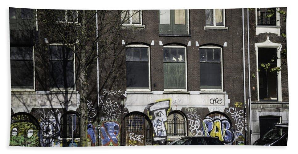 2014 Hand Towel featuring the photograph Amsterdam Graffiti by Teresa Mucha
