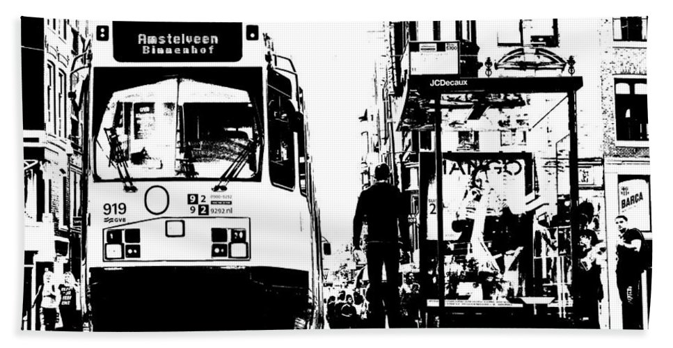 Amsterdam Bath Sheet featuring the photograph Amsterdam Tram by Jon Cotroneo