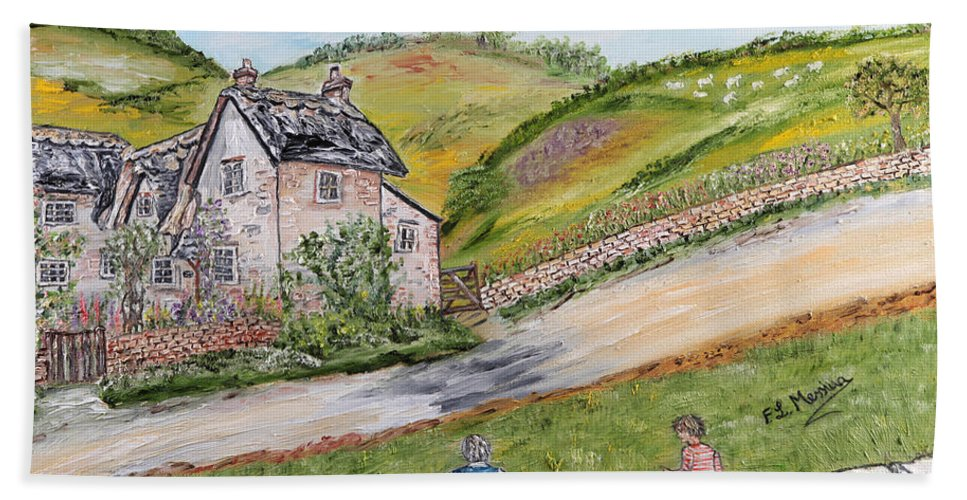 Rural Scene Hand Towel featuring the painting An Afternoon In June by Loredana Messina