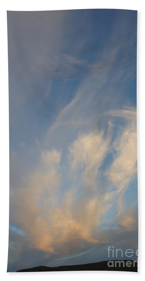 Clouds Bath Sheet featuring the photograph An Angel Appeared by Jerry McElroy