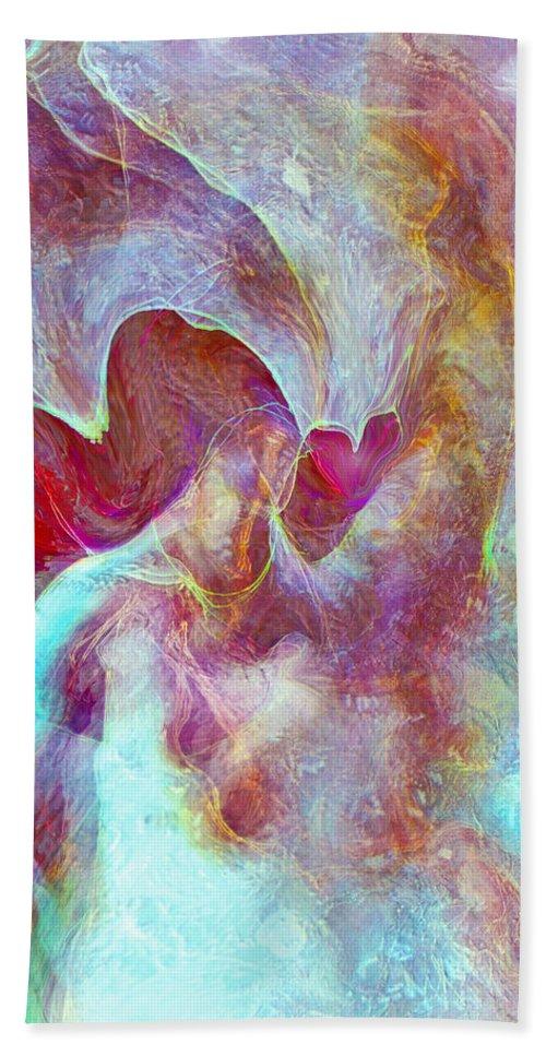 Angels Love Hand Towel featuring the digital art An Angels Love by Linda Sannuti