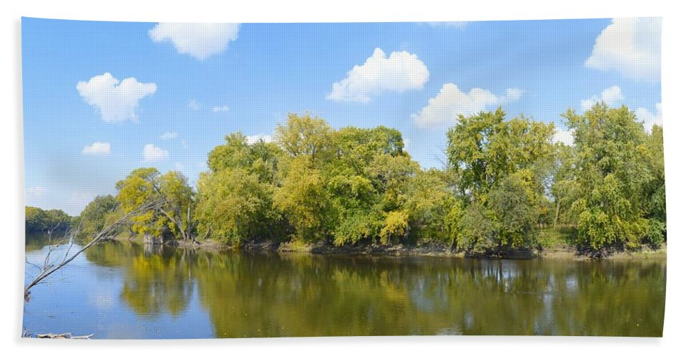 Environment Bath Sheet featuring the photograph An Autumn Day by Bonfire Photography