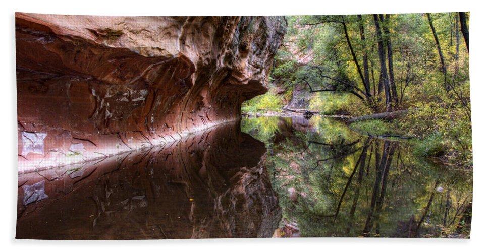 West Fork Bath Towel featuring the photograph An Autumn Day In West Fork by Saija Lehtonen