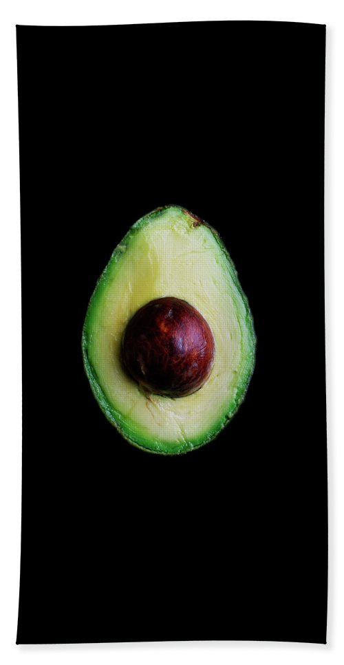 Fruits Hand Towel featuring the photograph An Avocado by Romulo Yanes