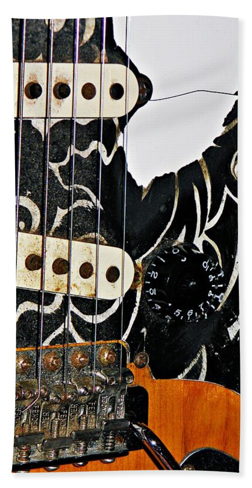 Fender Hand Towel featuring the photograph An Axe To Grind by Chris Berry