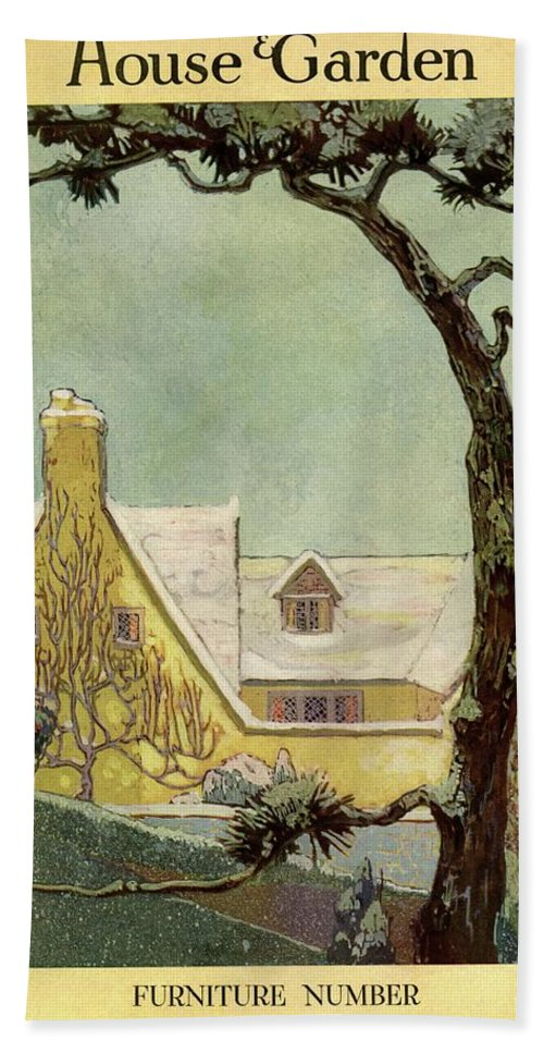 House And Garden Hand Towel featuring the photograph An English Country House by Porter Woodruff