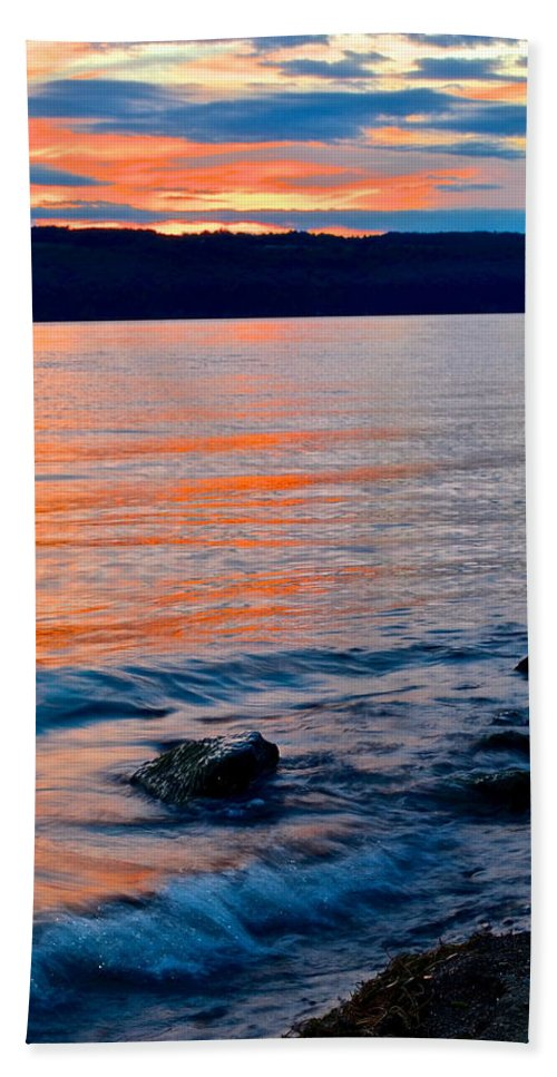 Evening Bath Sheet featuring the photograph An Evening To Remember by Frozen in Time Fine Art Photography