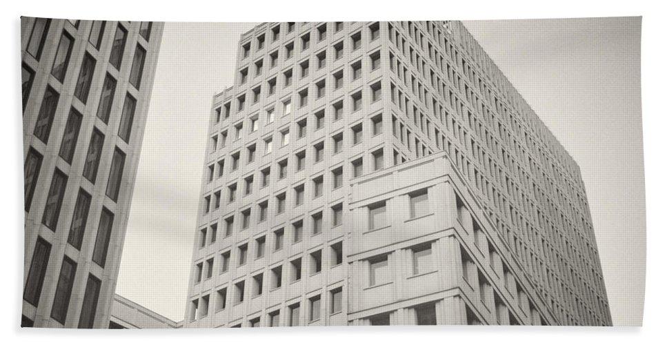 Berlin Hand Towel featuring the photograph Analog Photography - Berlin Beisheim Center by Alexander Voss
