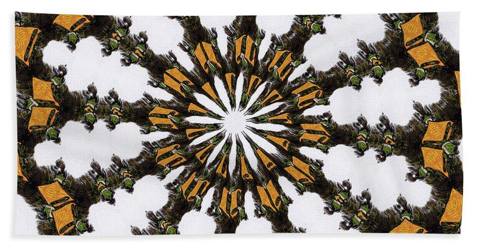 Ananasi Mandala Bath Sheet featuring the digital art Ananasi Mandala by Lisa Brandel
