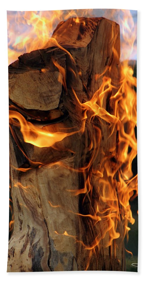 Fire Flames Hand Towel featuring the photograph Anatomy Of Fire by David Salter