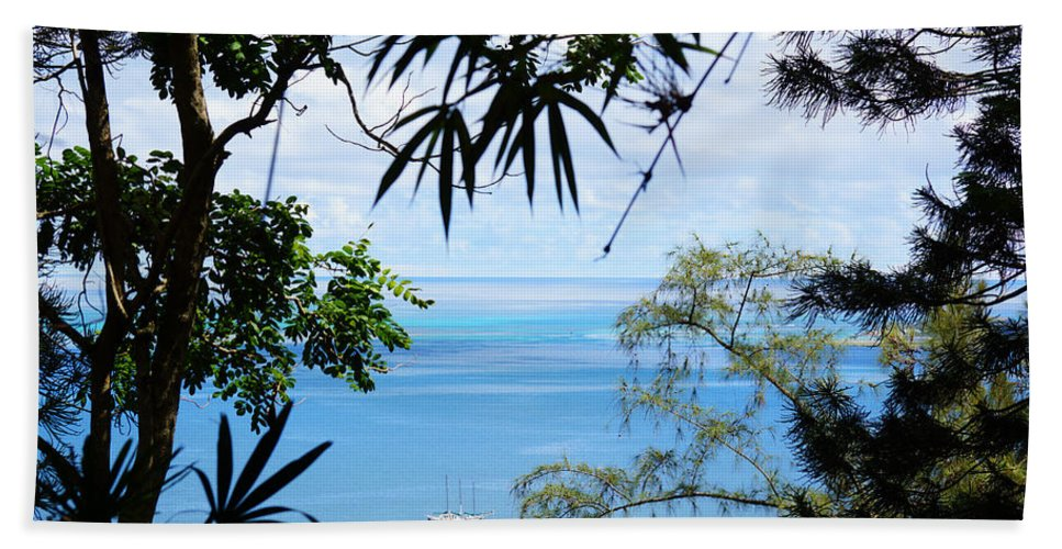 Hawaii Hand Towel featuring the photograph Anchorage In Paradise by Kevin Smith