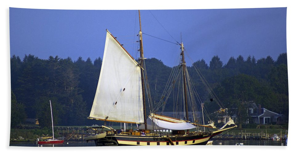 Sail Hand Towel featuring the photograph Anchorage by Joe Geraci