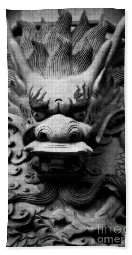 Hong Kong Bath Sheet featuring the photograph Ancient Guardian by Venetta Archer