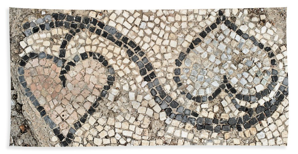 Mosaic Hand Towel featuring the photograph Ancient Mosaic by Grigorios Moraitis