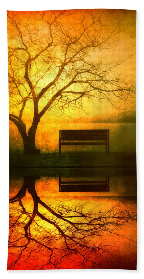 Bench Bath Towel featuring the photograph And I Will Wait For You Until the Sun Goes Down by Tara Turner