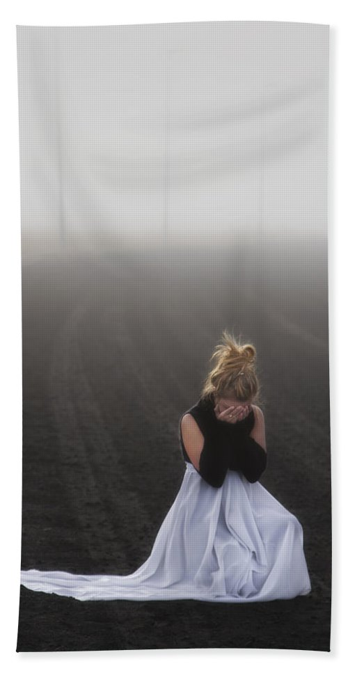 Girl Hand Towel featuring the photograph And Tears Shall Drown The Wind by Evelina Kremsdorf